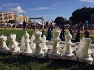 Una scacchiera gigante per il Parco Uditore