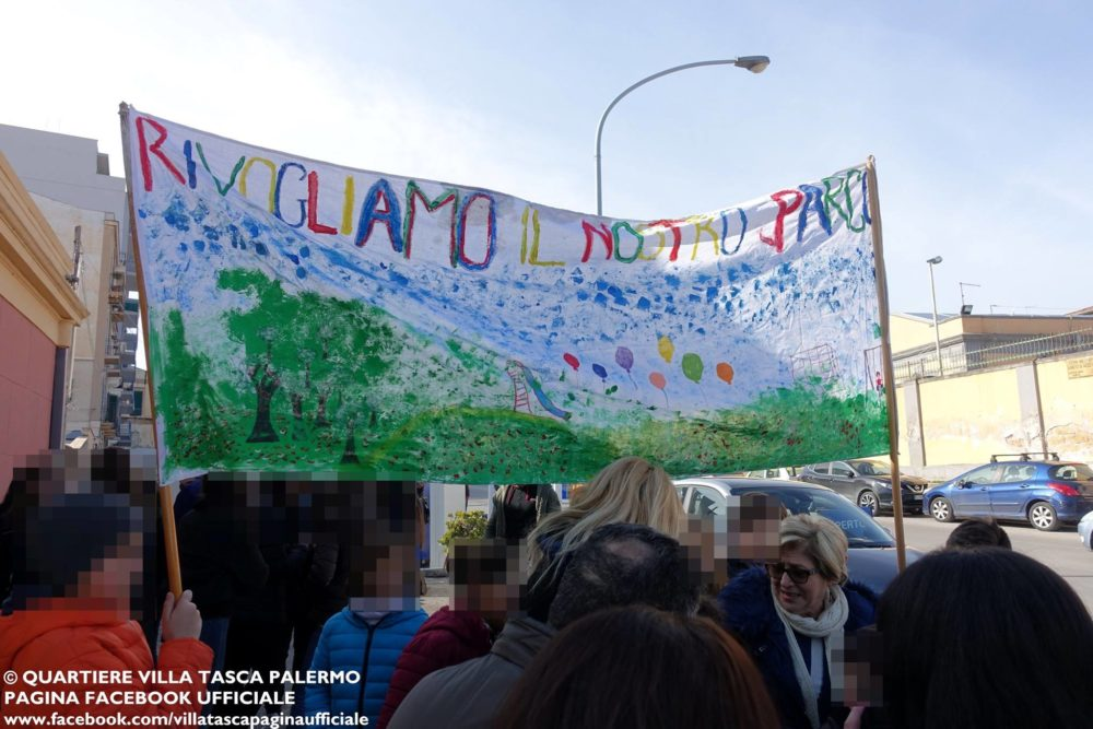 Protesta Parco Ninni Cassarà