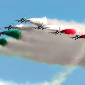 Le Frecce Tricolori giungono a Palermo